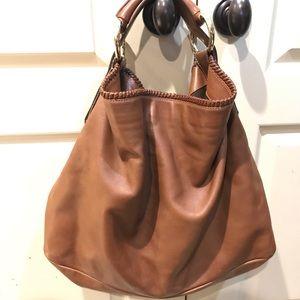 Authentic Gucci leather large horsebit hobo bag